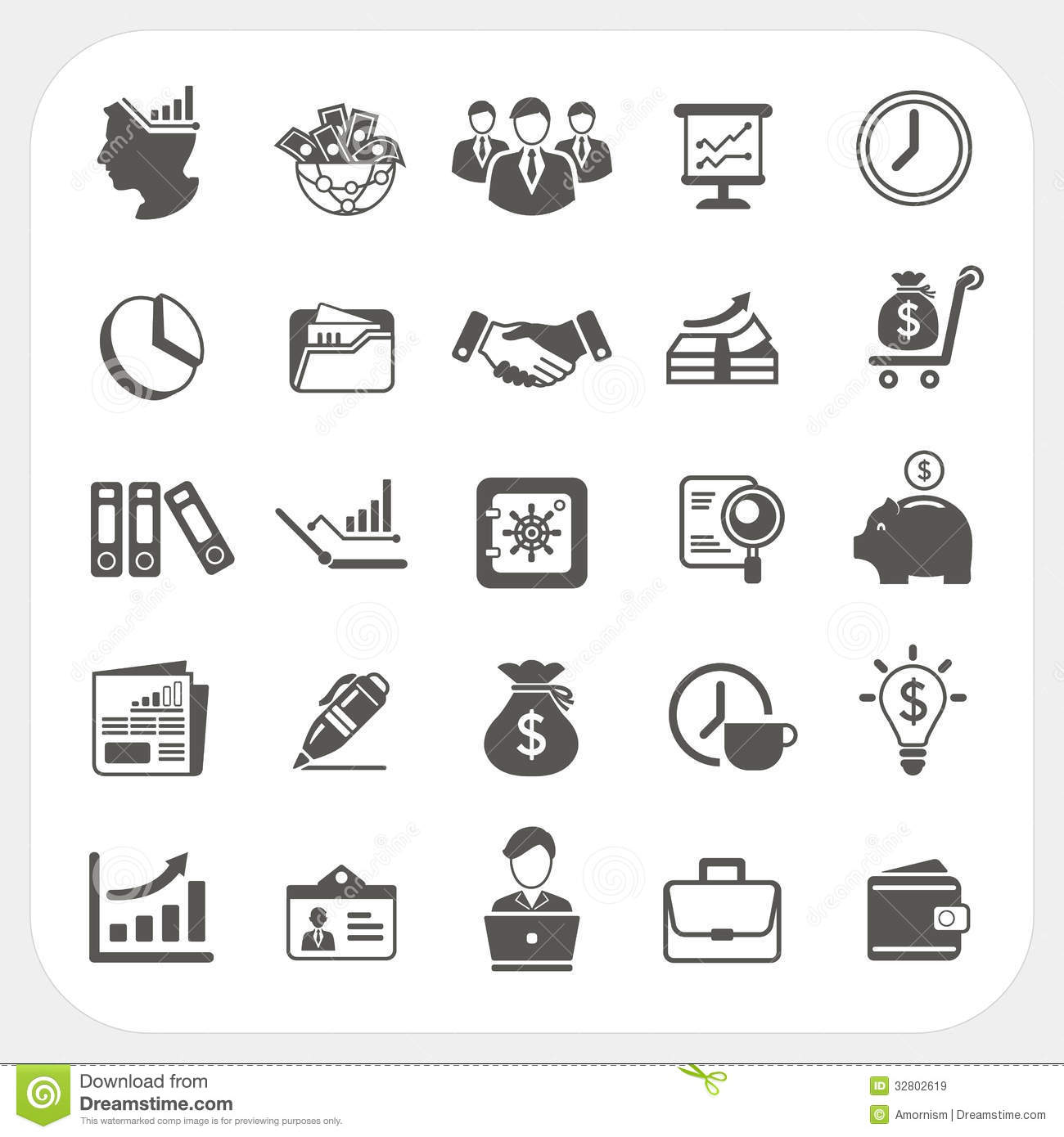 Business Finance Icons Set Stock Vector