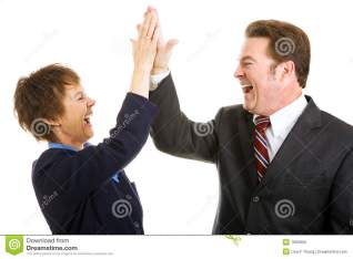 Business High Five stock image. Image of hair, partnership - 7683859