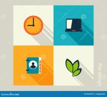 Business Icon Set. Management Human Resources Marketing