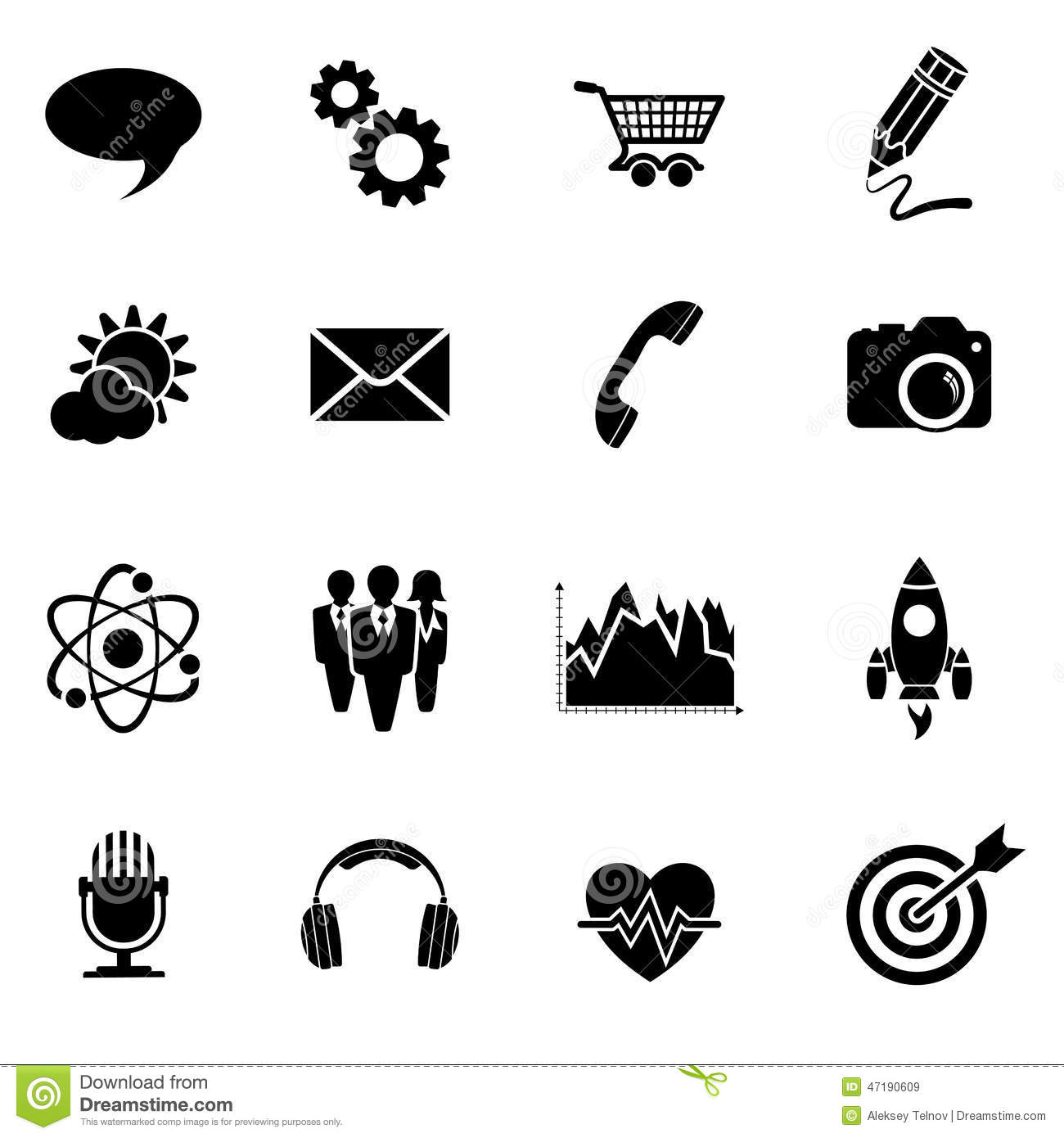 Business Icon Set Stock Vector