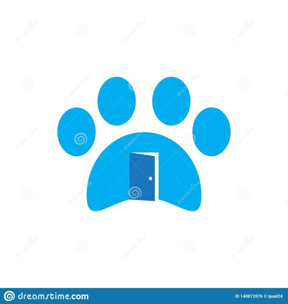 medium resolution of business icon symbol animal house dog logo cat pet vector sign design illustration shop store concept veterinary home care paw
