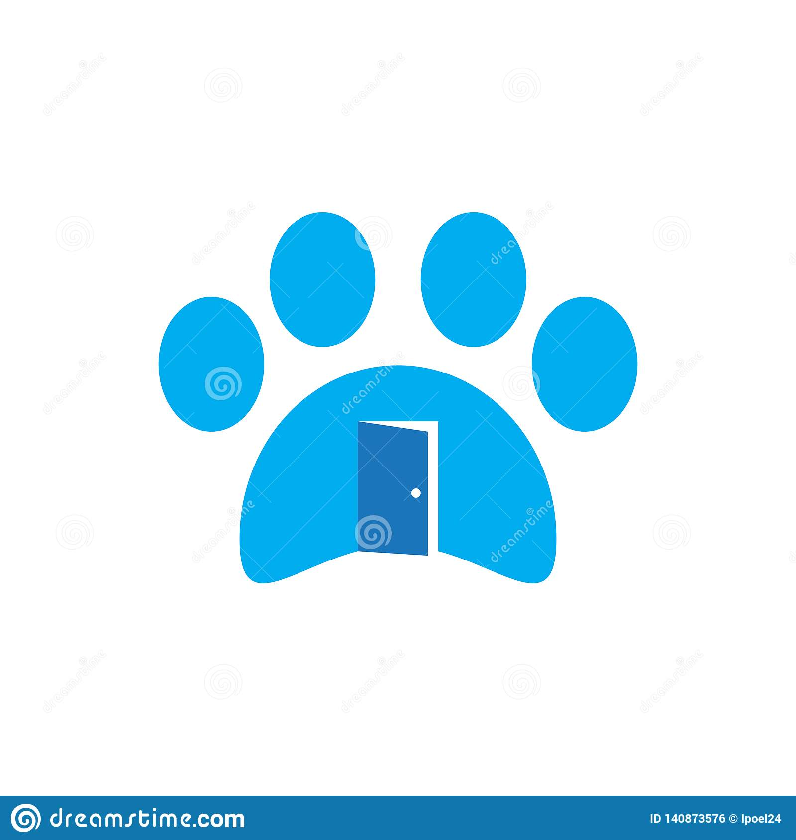 hight resolution of business icon symbol animal house dog logo cat pet vector sign design illustration shop store concept veterinary home care paw