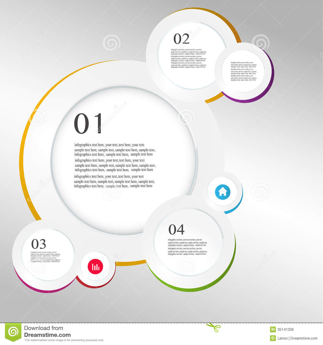 money origami diagram outer ear labeled business infographics circle style vector royalty free stock images - image: 35141339