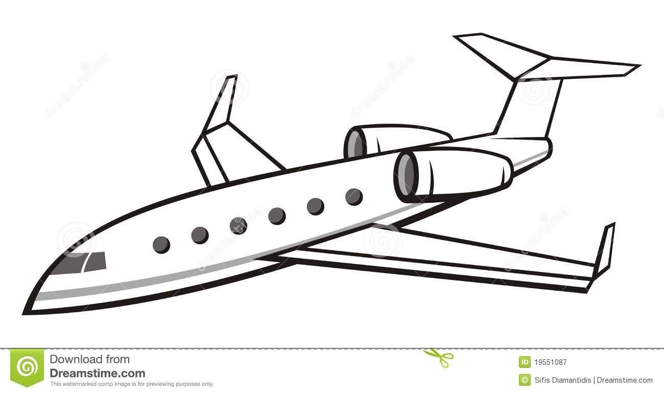 Private Jet Drawing