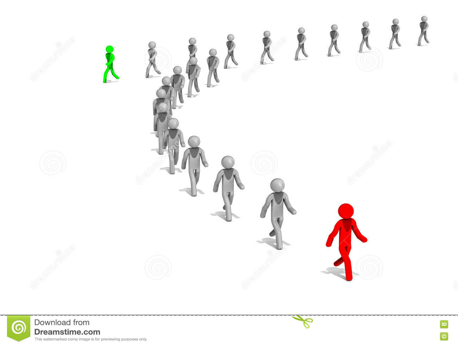 Business Leader Walks To Progress Stock Illustration