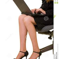 Woman Sitting In Chair Spandex Banquet Covers Wholesale Business Legs Stock Photo. Image Of Heel, Body, Career - 4924774