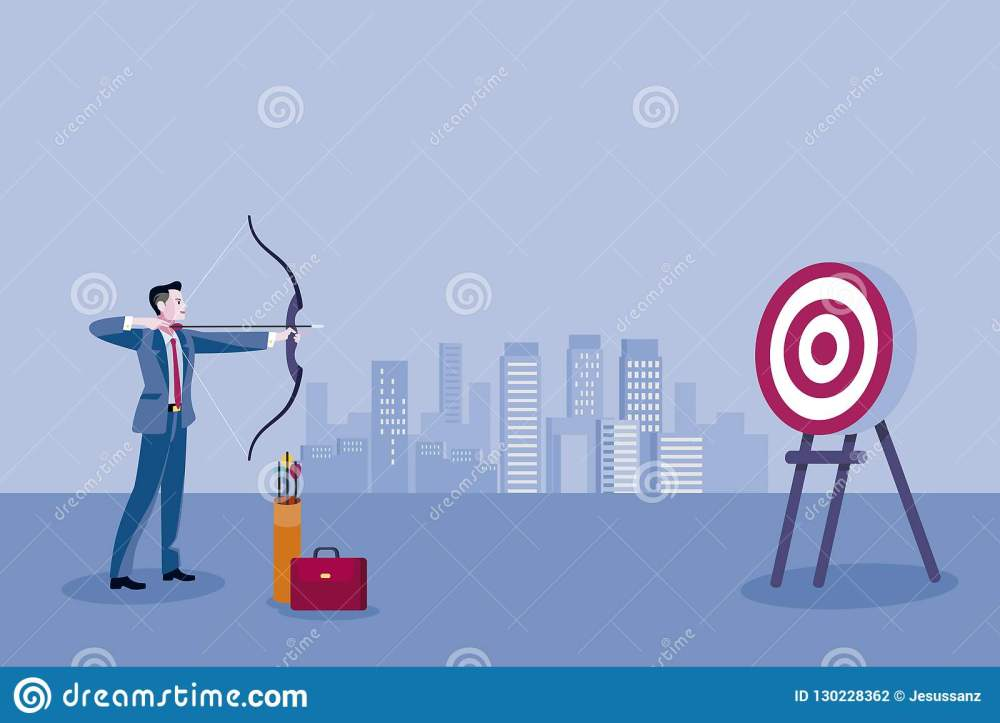 medium resolution of archery and business man business man aiming at the target concept business vector illustration
