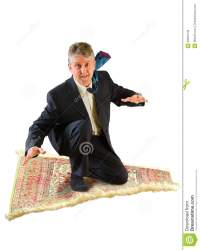 Business Man Flying On A Magic Carpet Royalty Free Stock ...