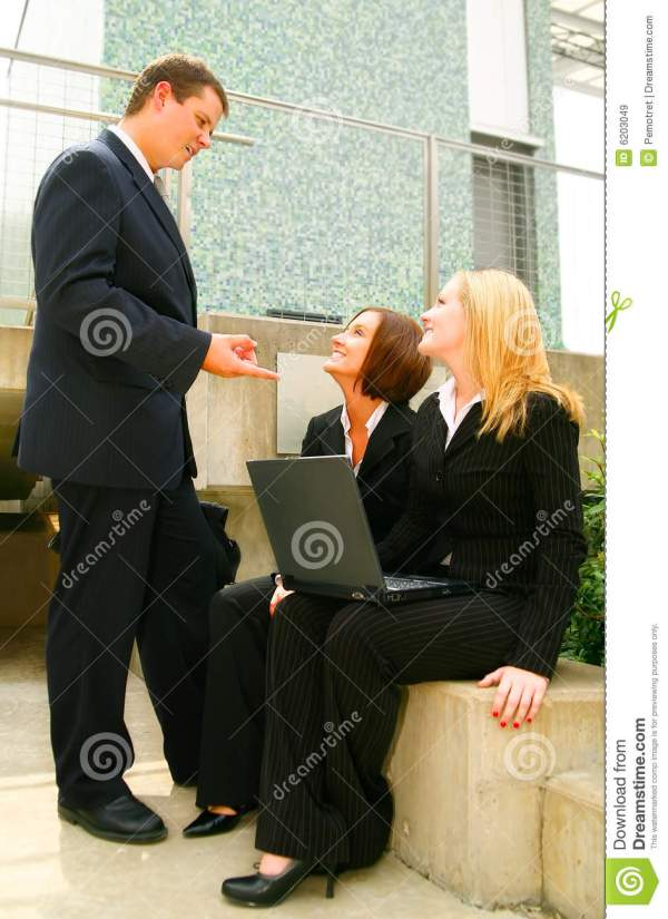 Business Man Giving Instruction Royalty Free Stock