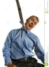 Business Man Hanging From Tie Stock Photo - Image: 1741774