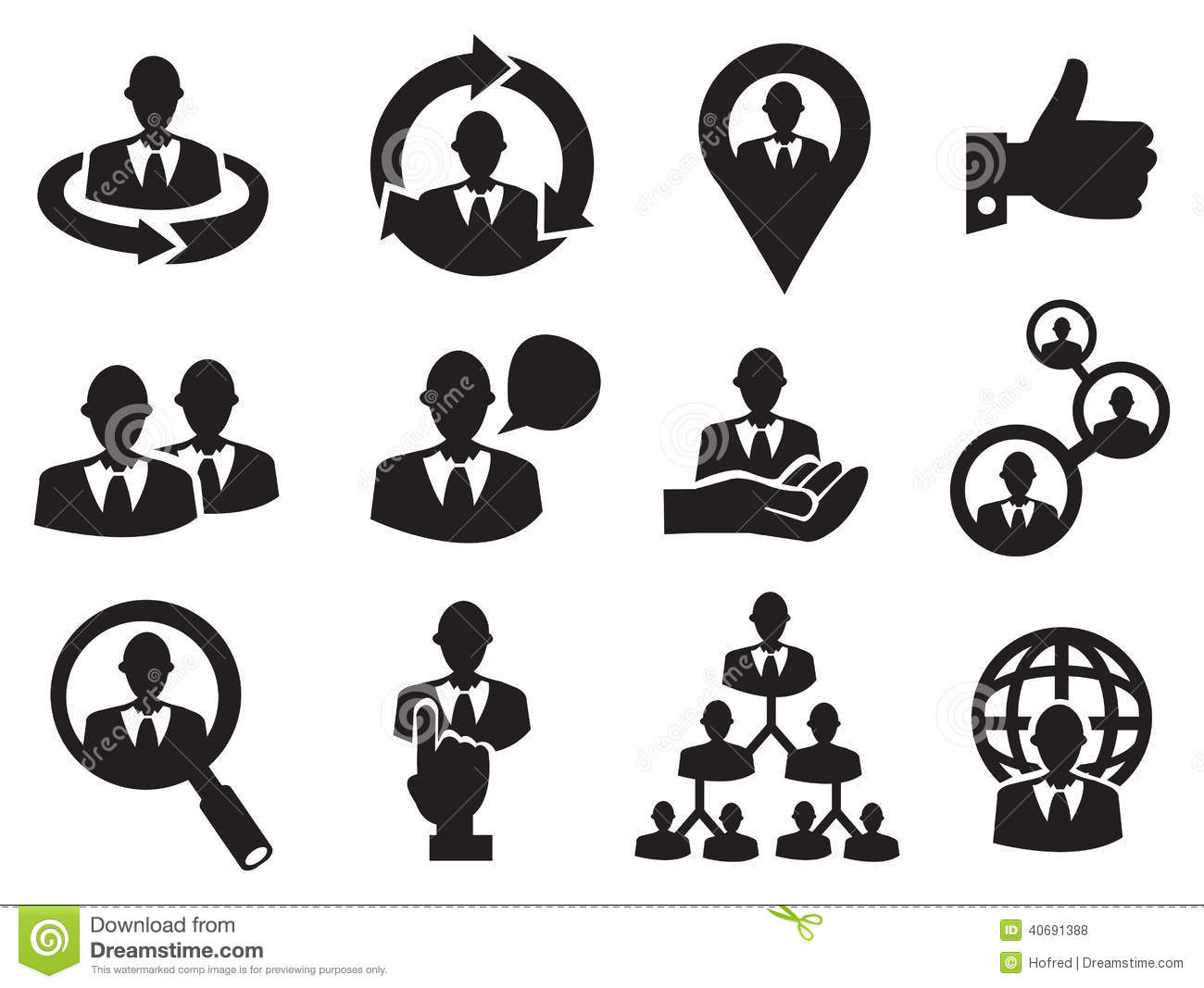 Human Resources Clipart Black And White