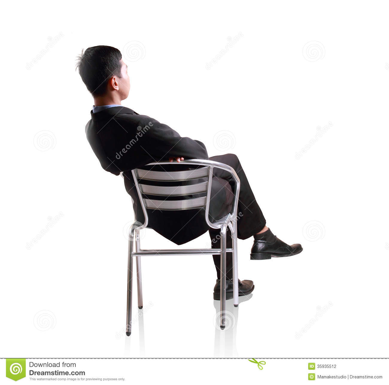 sit in your chair commercial dining chairs business man down single stock photo image