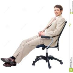 Sitting Chair Mid Century Modern Chairs Business Man On Stock Photo Image 5155960