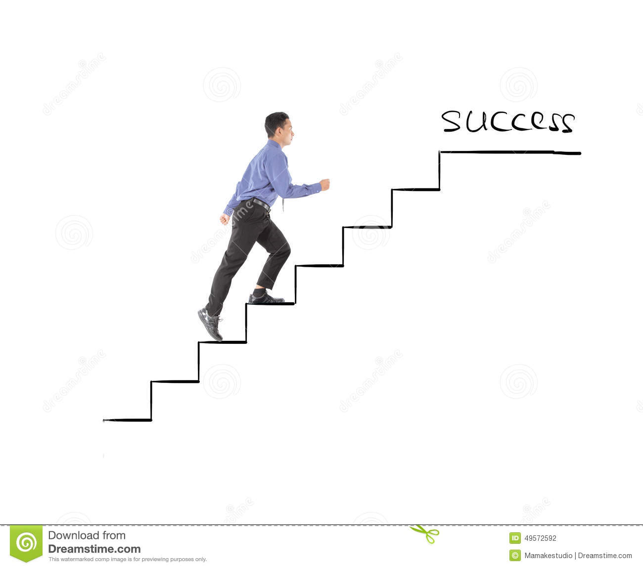 Business Man Walking Success On Profit Stairs Stock Vector