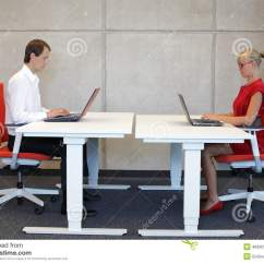 Better Posture Chair Wicker Swing Sale Business Man And Woman Working In Correct Sitting With Laptops On Chairs