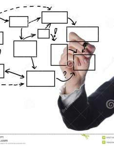 Business man writing process flowchart diagram on whiteboard also stock image rh dreamstime