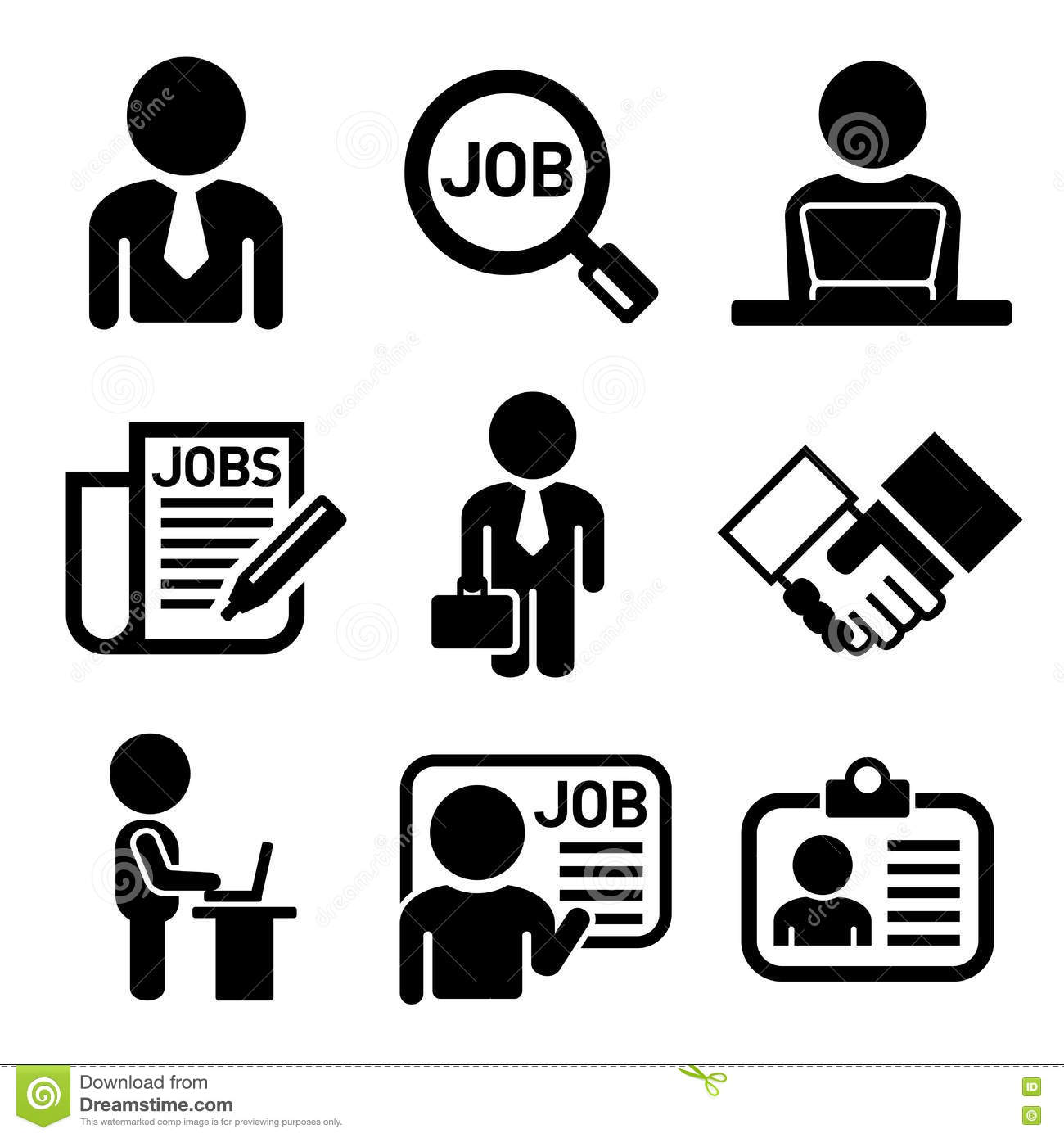 Business Icons Management And Human Resources. Cartoon