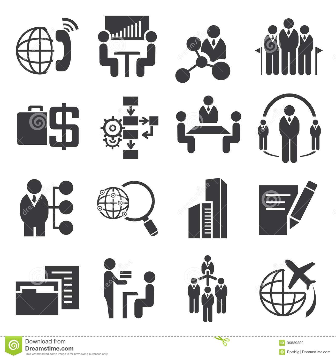 Business Management Icons Stock Illustration Illustration