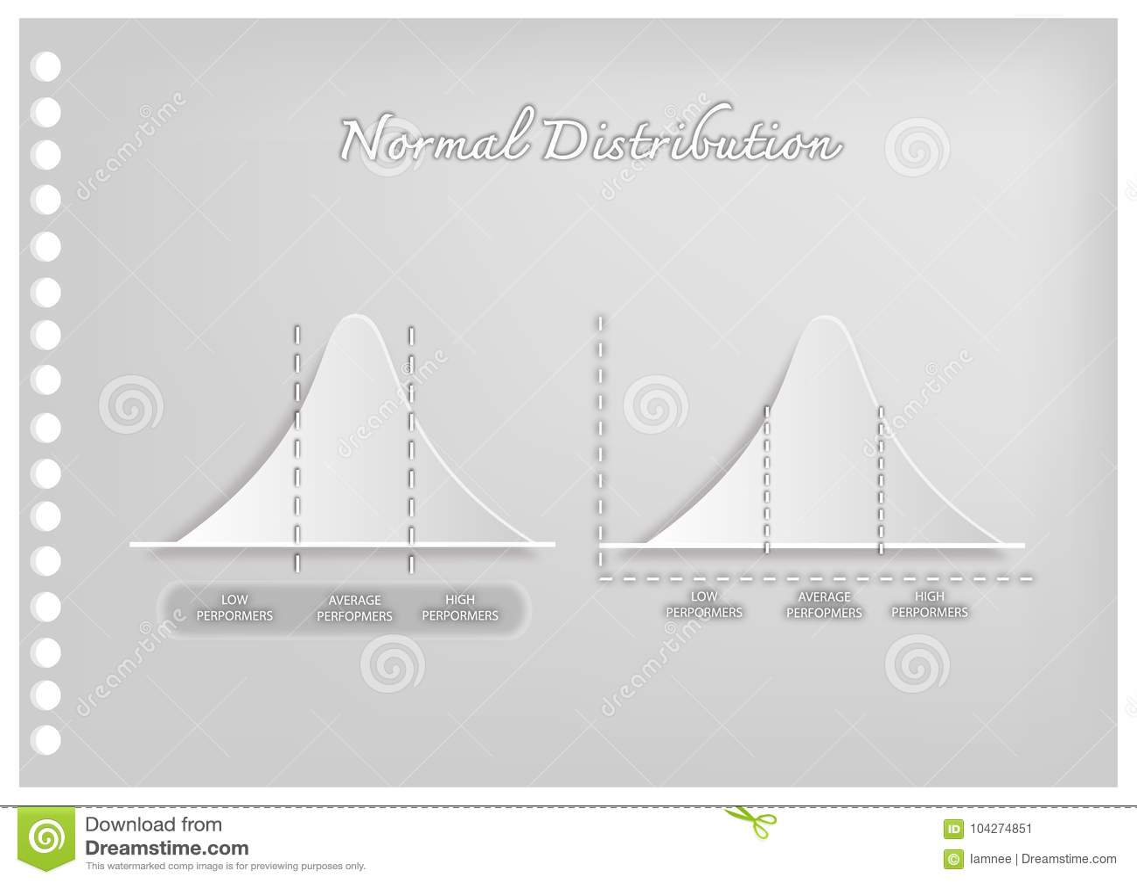 Paper Art Of Standard Deviation Diagram Graph Stock Vector