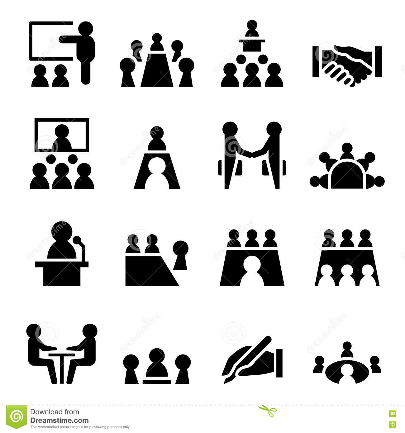Business Meeting Amp Conference Icon Stock Illustration