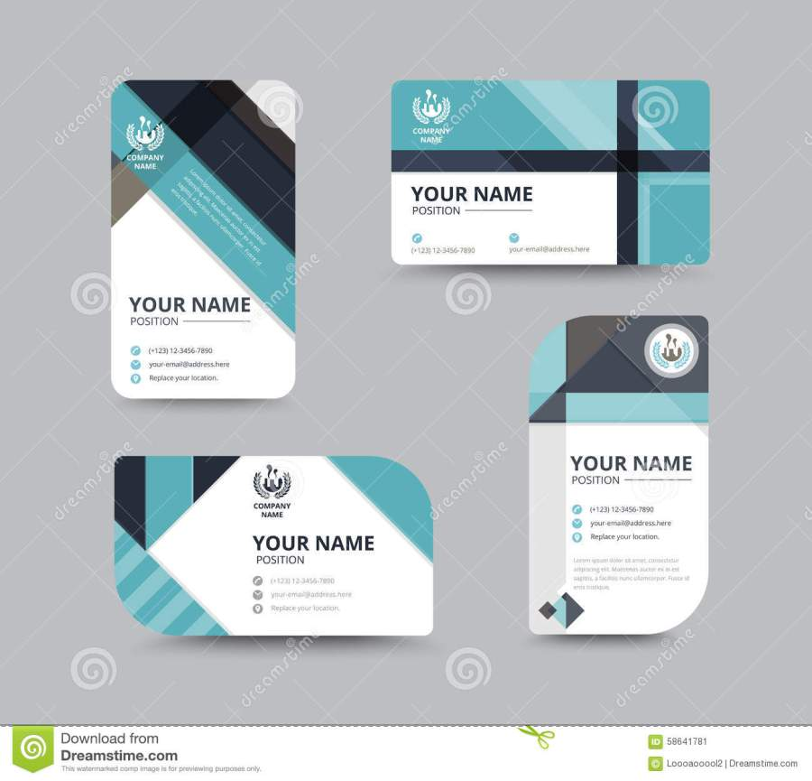 Business Name Card Design For Corporation Card Template