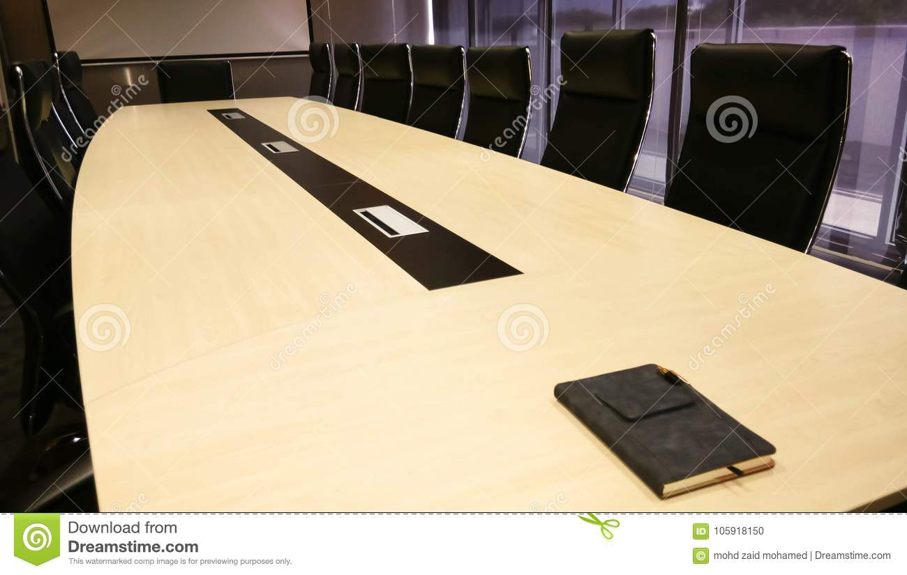 https www dreamstime com business office conference room table professional meeting boardroom modern corporate presentation work indoors company empty image105918150