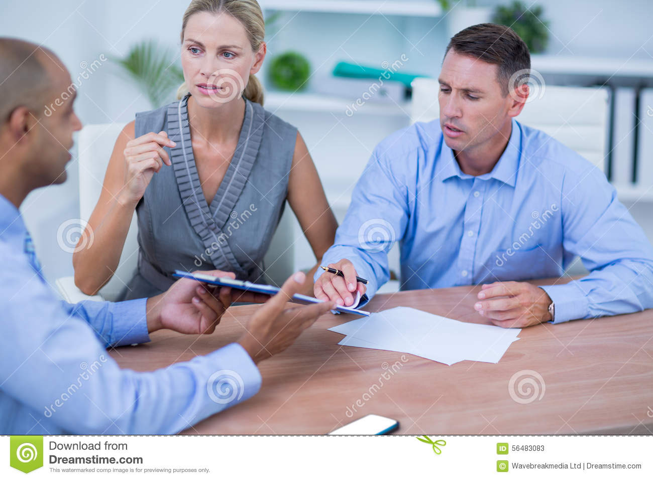Business People Brainstorming Together Stock Image