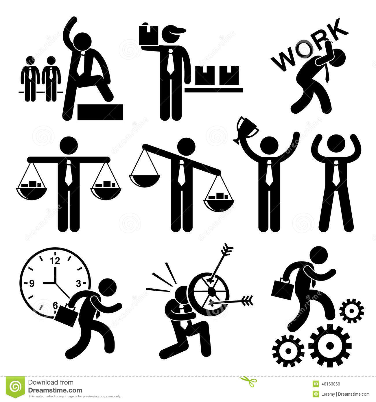 Business People Businessman Concept Cliparts Stock Vector