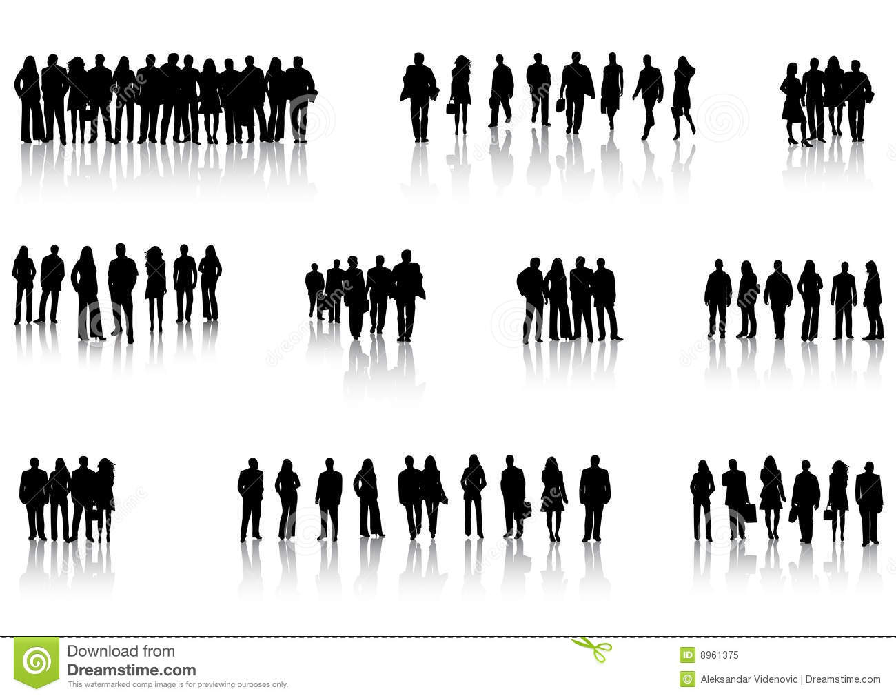 Business people and shadow stock vector. Illustration of