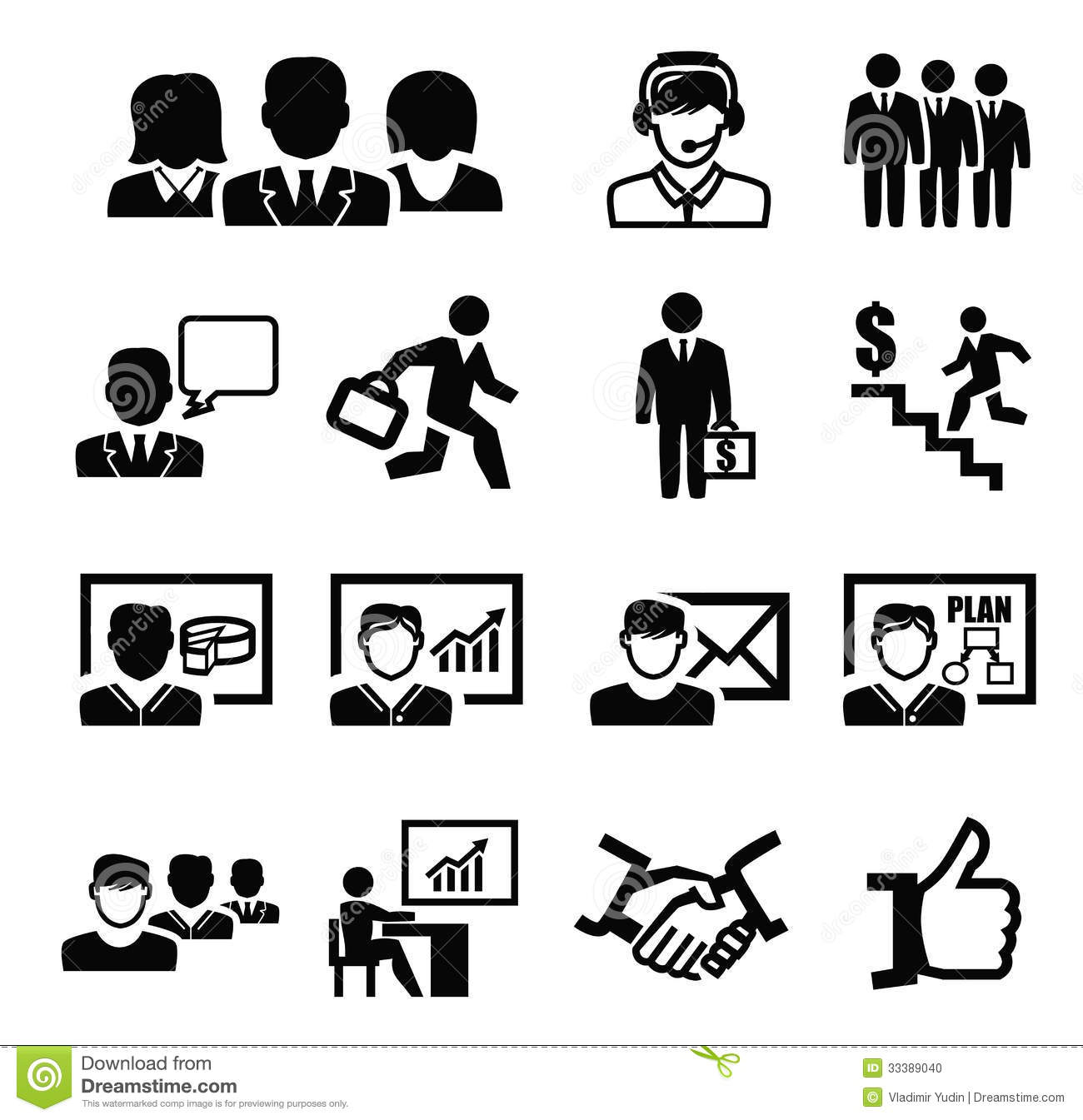 Business Persons Icons Stock Vector Illustration Of