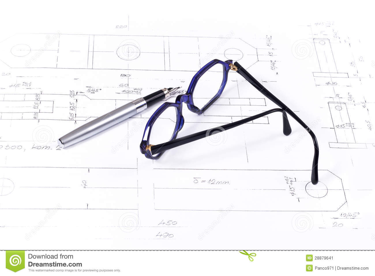 Business plan stock image. Image of equipment, working