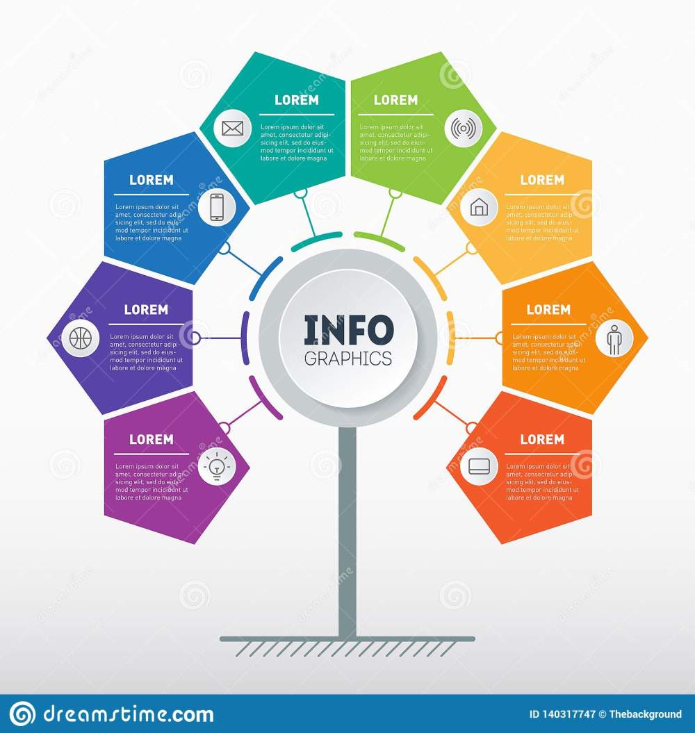 medium resolution of business presentation or info graphics concept with 8 options web template of tree info chart or diagram vector infographic of technology or education