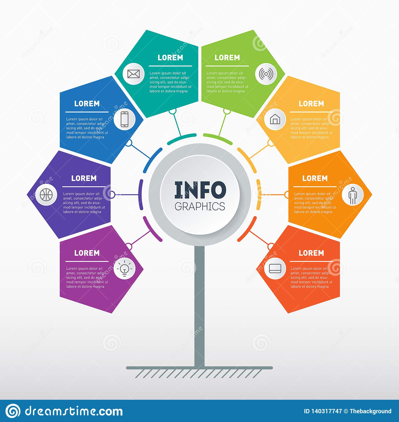 hight resolution of business presentation or info graphics concept with 8 options web template of tree info chart or diagram vector infographic of technology or education