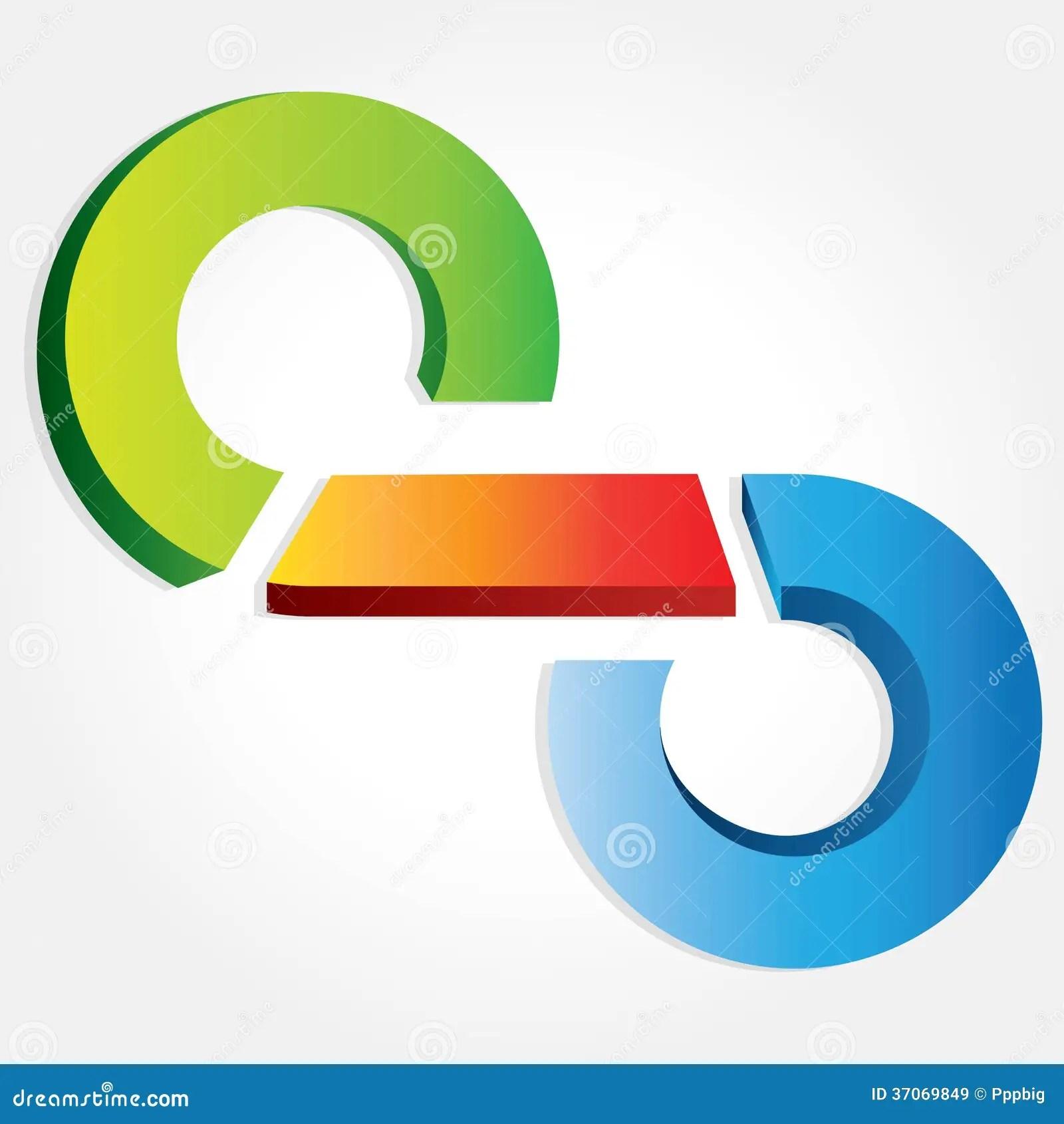 hight resolution of business process flow presentation circular loop diagram