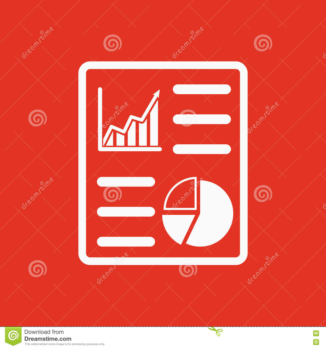 The Business Report Icon Audit And Analysis Document Plan Symbol Flat Stock Illustration