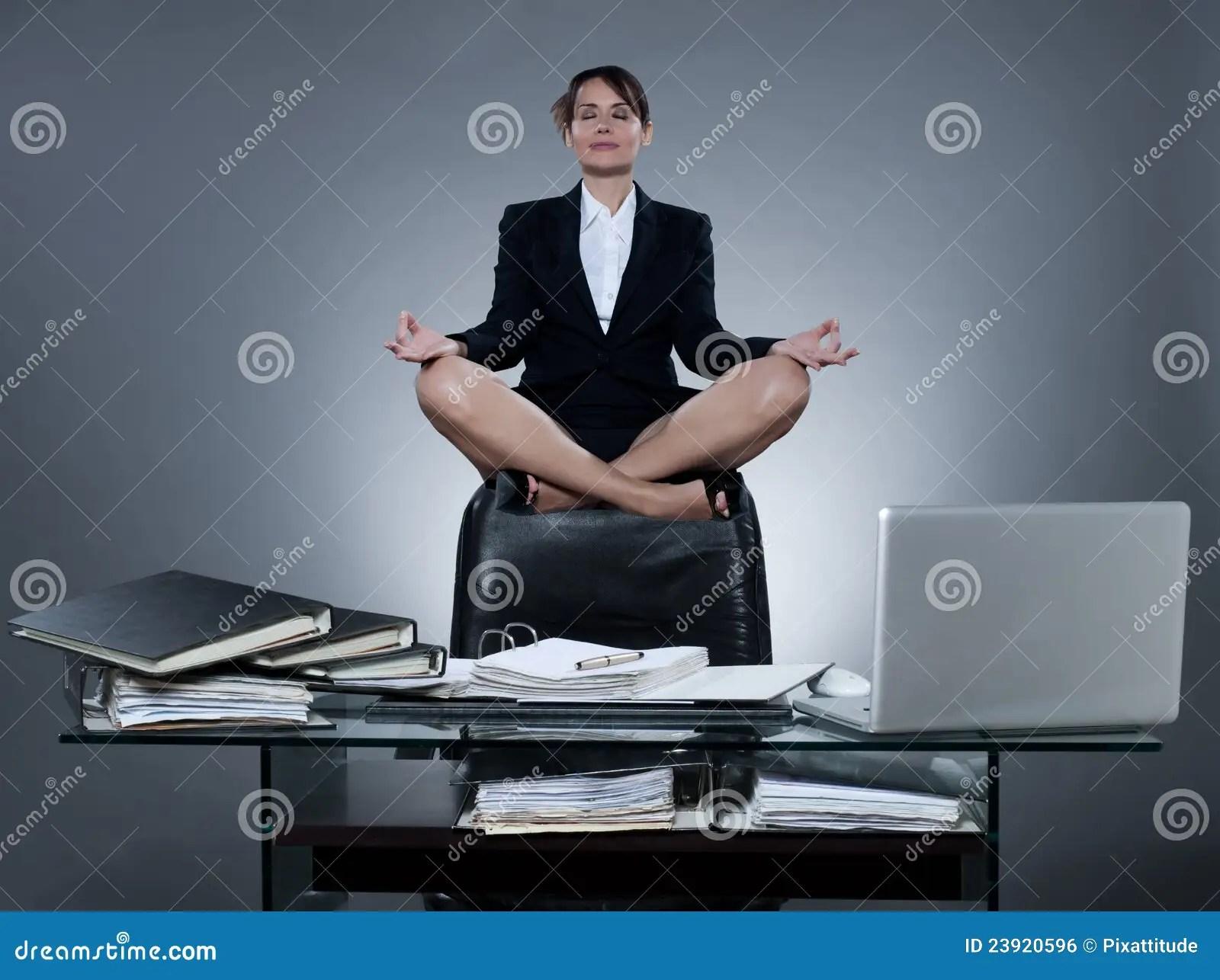 Business Secretary Woman Levitation Stock Photo  Image