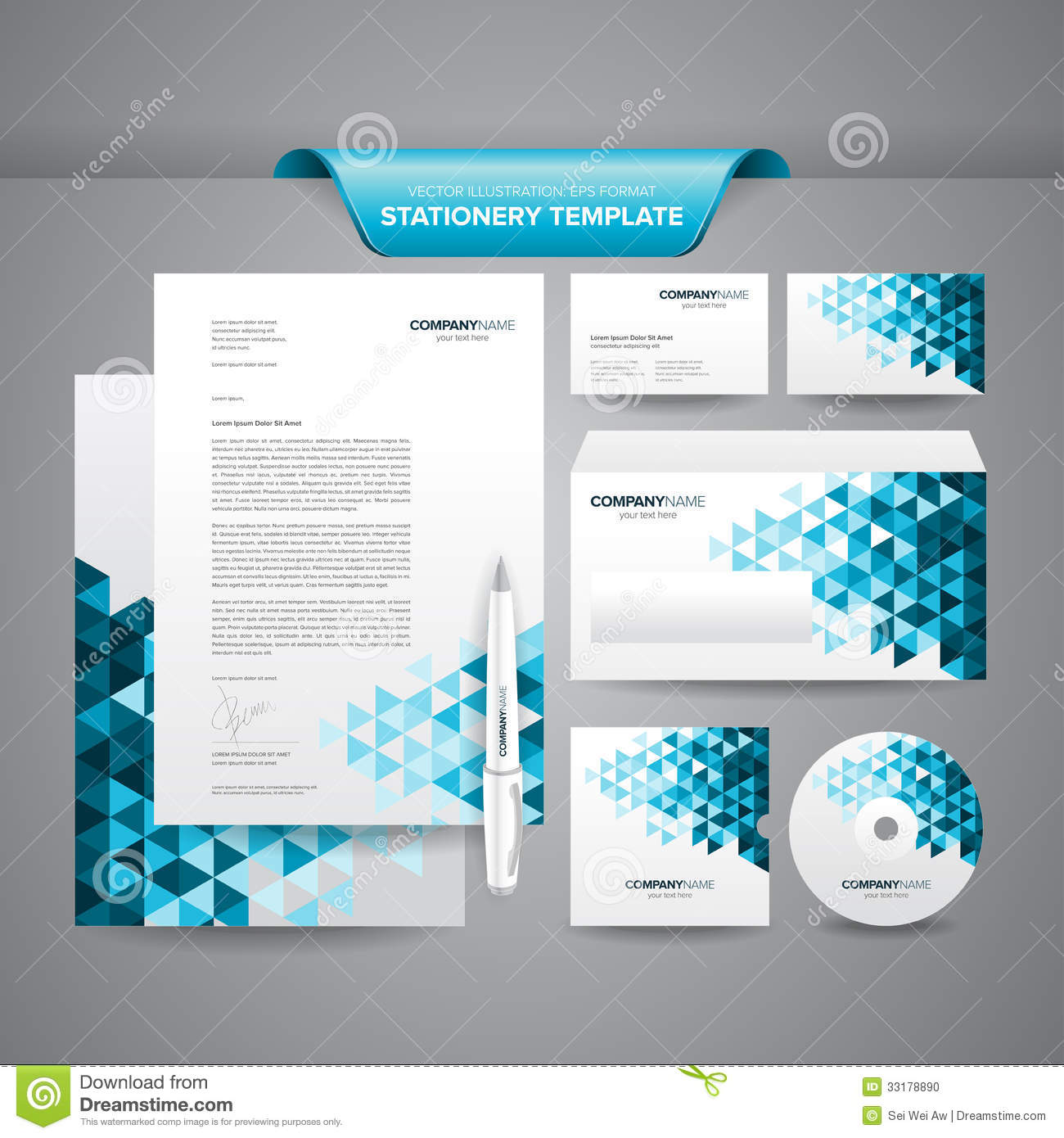 Business Stationery Template Stock Vector  Image 33178890