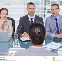 Swivel Office Chair Plans Fold Out Sleeper Business Team Listening To The Applicant In Interview Stock Image - Image: 32518363