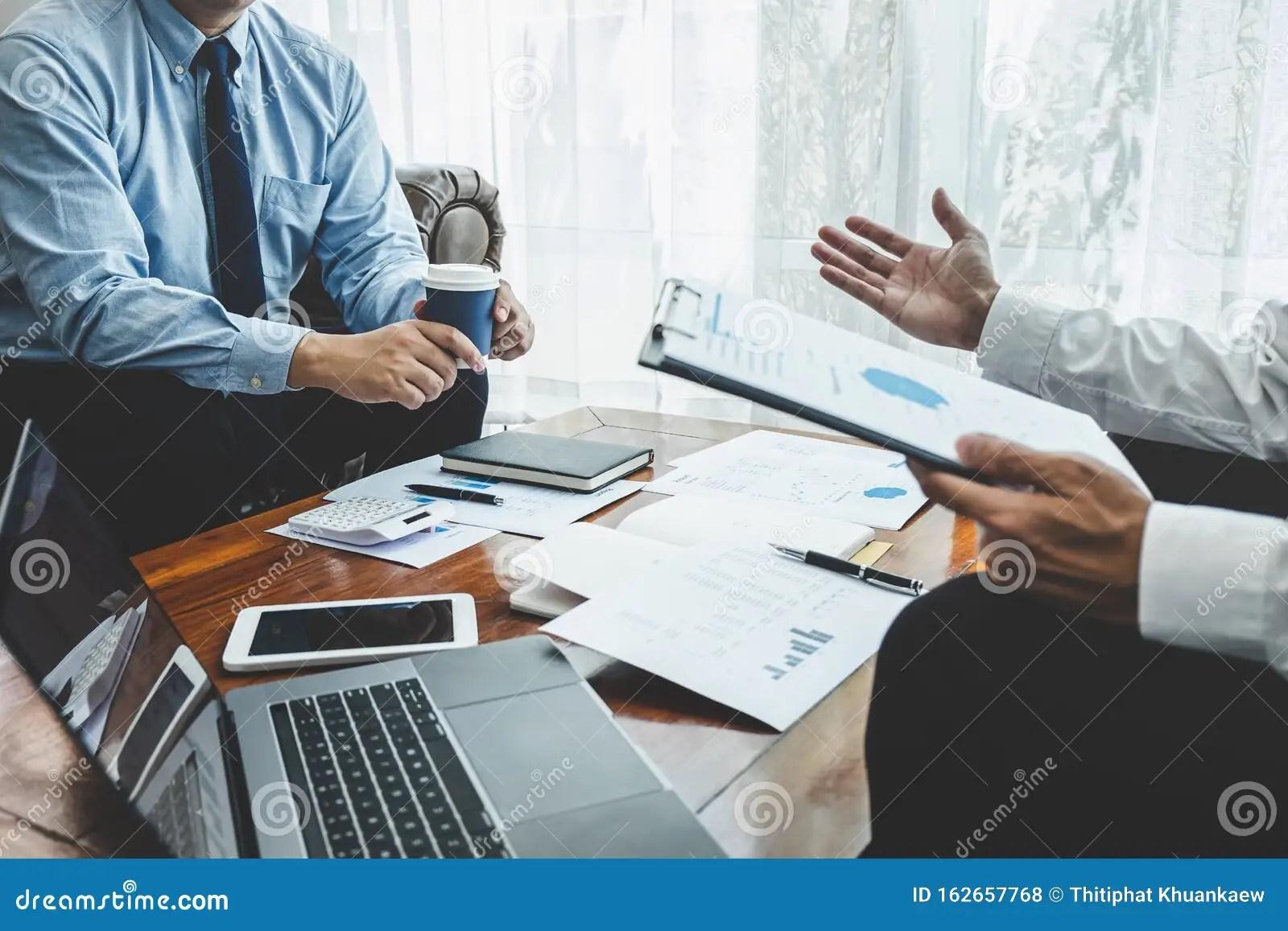 Business Team Partner On Meeting Brainstorming In