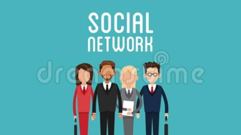 business teamwork and social