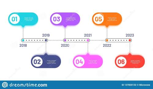 small resolution of 6 process steps horizontal workflow processing diagram infographics vector flowchart work flow diagram with number year illustration
