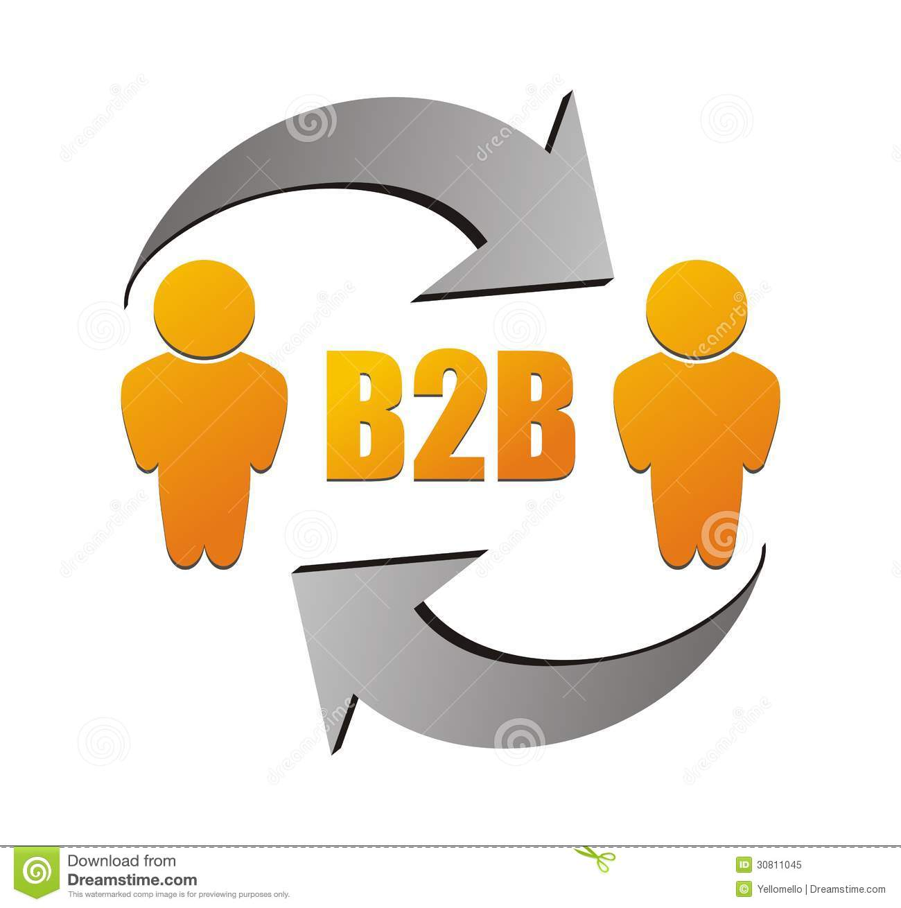 Business To Business, B2b Illustration Royalty Free Stock
