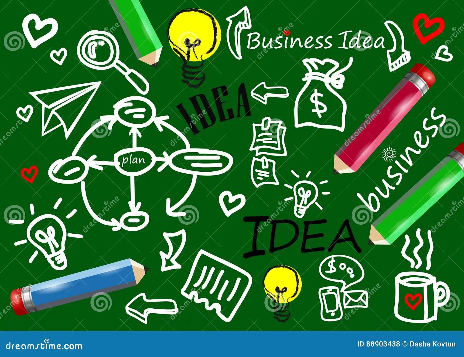 hight resolution of business vector idea icon symbol diagram