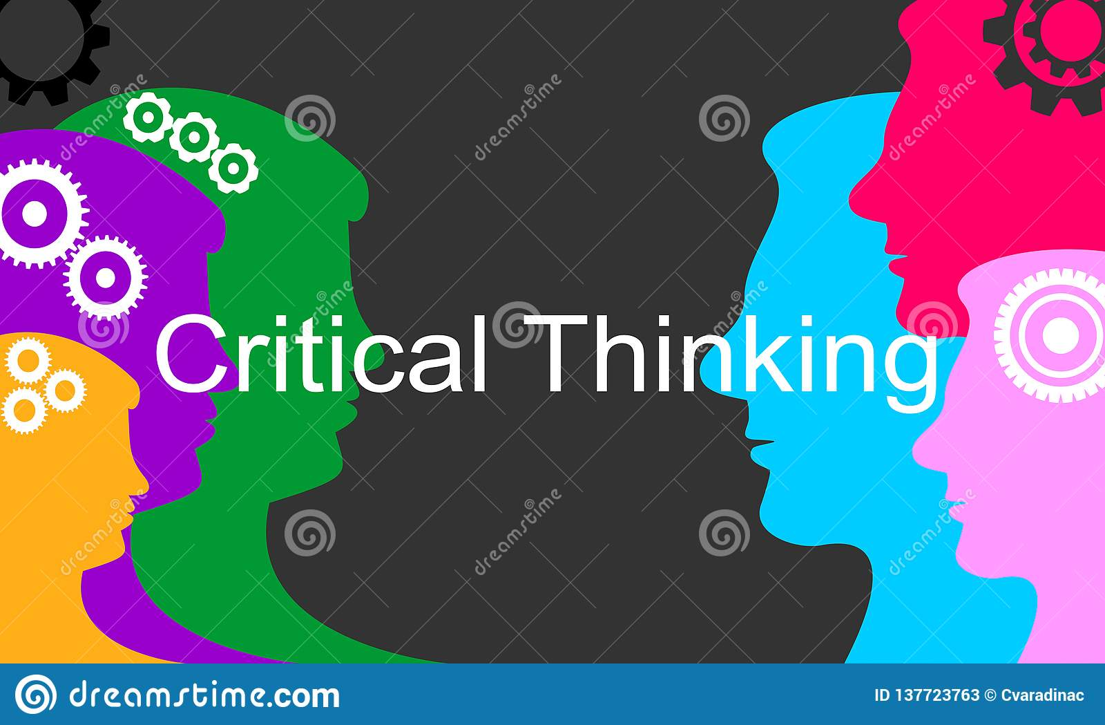 Critical Thinking Concept Of Creative Solution Stock