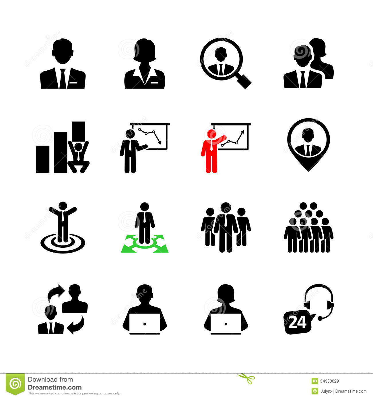 Business web icon set stock vector. Illustration of