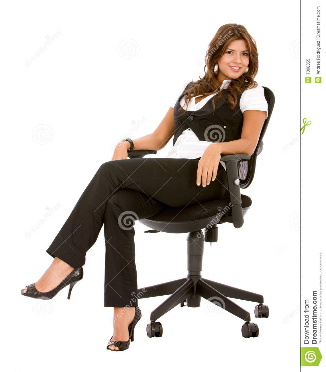 woman sitting in chair mesh gaming pm3000 business royalty free stock photo image