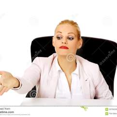 Revolving Chair Second Hand Fishing Ebay Secretary Sitting In Swivel Stock Image | Cartoondealer.com #27852631