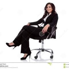 Woman Sitting In Chair Bungee Business On A Royalty Free Stock