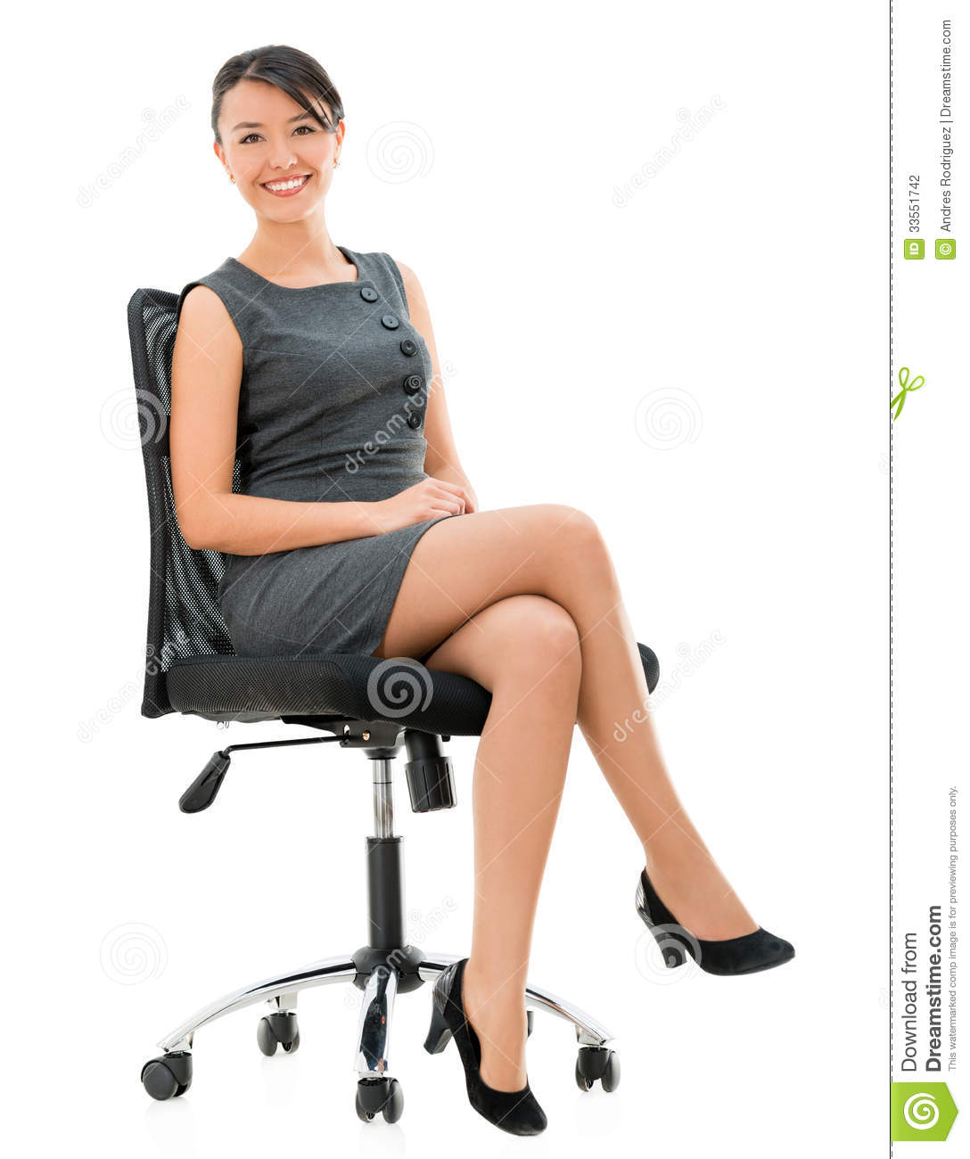 woman sitting in chair office extra wide business on a stock photo image