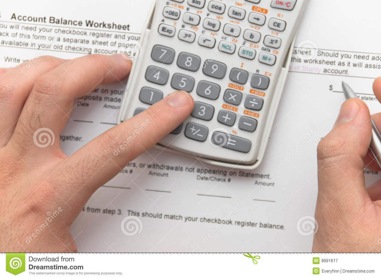 Businessmanyzing Financial Figures Stock Image